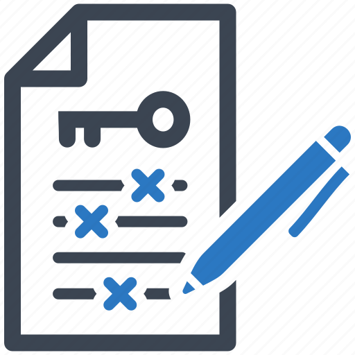 file, keywords, management icon