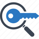 key, keyword research, security, seo icon