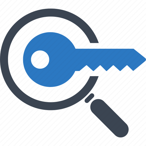 Key, security, seo, keyword research icon - Download on Iconfinder