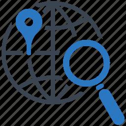 globe, local seo, location, navigation icon