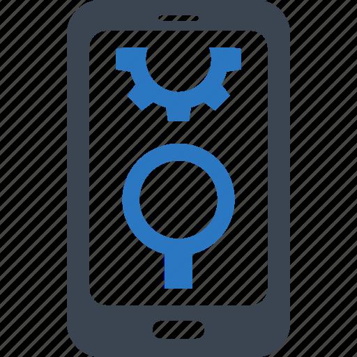 mobile seo, search engine, smartphone icon