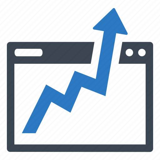 business growth, graph, monitoring, seo analytics icon