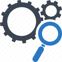 gear, search engine, seo, web optimization icon