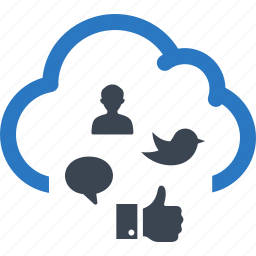 cloud computing, connection, network, social media icon