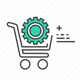cog, commerical, ecommerce, gear, settings, shop, shopping icon