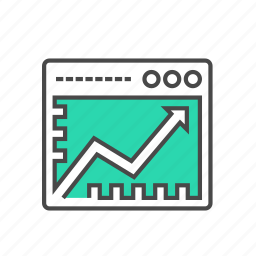 business, chart, internet, line chart, marketing, monitor, website icon