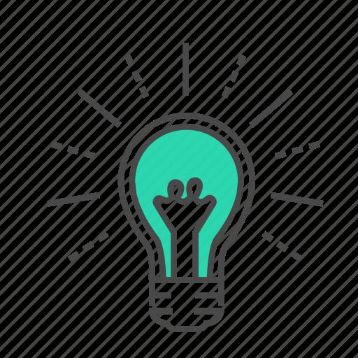 brain, bright, business, creative, idea, light bulbs, marketing icon