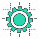 cog, design, development, internet, marketing, seo, setting icon