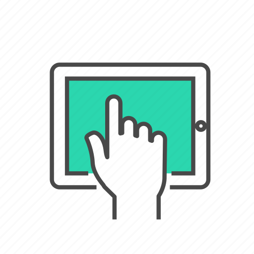 hand, internet, marketing, screen, tablet, technology, touch icon
