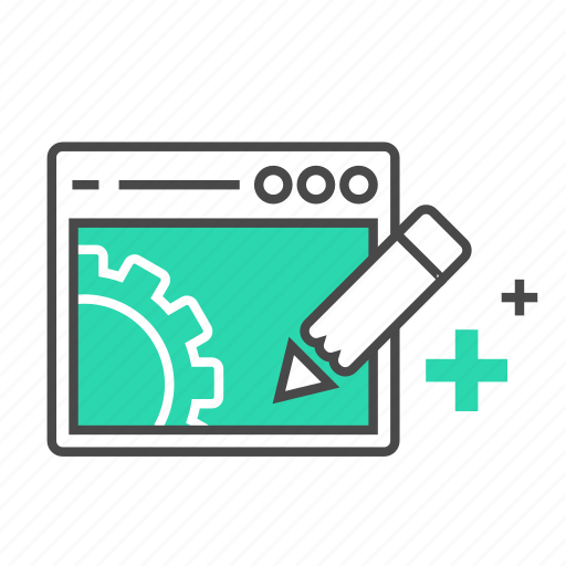 edite, internet, marketing, pen, seo, setting, website icon