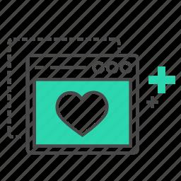 business, favorite website, heart, internet, love, marketing, seo icon