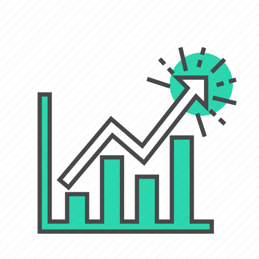 analytics, business, finance, graph, internet, marketing, visitors icon