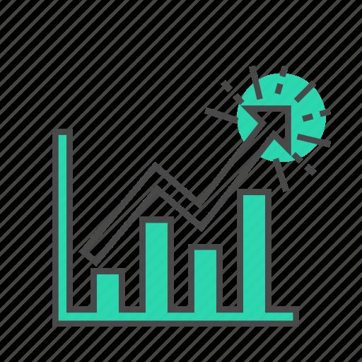 analytics, business, finance, graph, internet, marketing, visitors icon