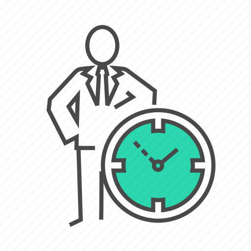 business man, clock, marketing, schedule, seo, time, time menage icon