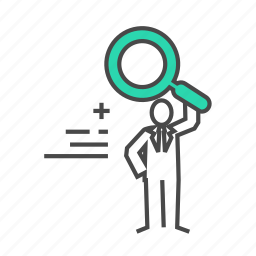 business man, employees, find, marketing, search, searching icon