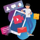 media, online, social, social market, web, web page icon