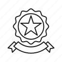award, badge, ribbon, seo, star icon