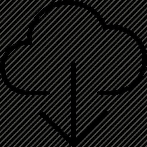 arrow, cloud, down, download, guardar, save icon