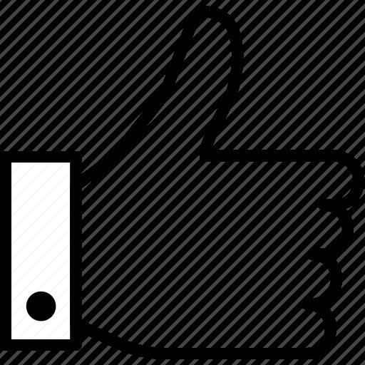 hand, media, social, thumb, up icon