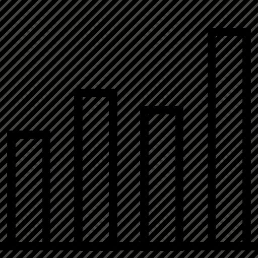 analytics, bar, colum, graph, marketing, web icon