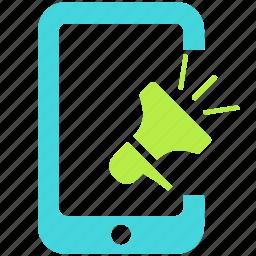 avertising, bullhorn, megaphone, promotion icon