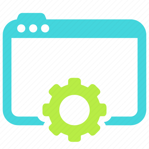 gear, network, page, web icon