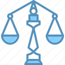 equal, judge, jury, law, legal, trial icon