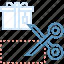 cutting, gift, marketing, seo, web icon