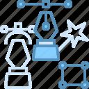 design, ink, marketing, seo, web icon