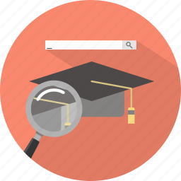 academic, find, search icon