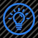 bold, bulb, concept, idea, marketing, outline, seo icon