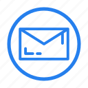 bold, communication, email, envelope, letter, line, mail, message, outline, seo icon