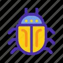 bug, database, insect, marketing, seo, virus, website icon