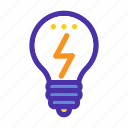 bulb, creative, idea, light, marketing, seo, website icon