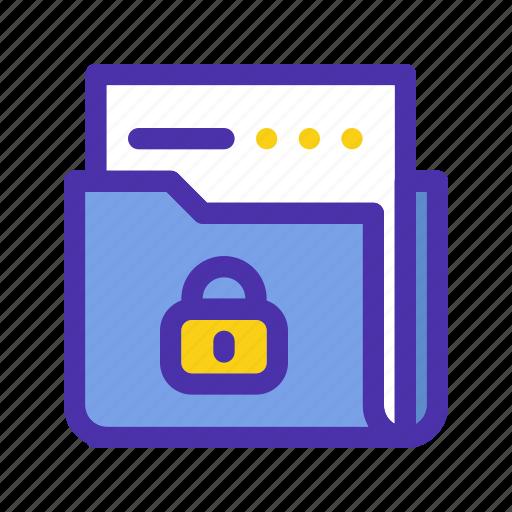 confidential, document, lock, marketing, security, seo, website icon