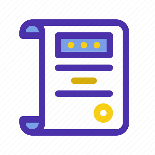 agreement, certificate, document, license, marketing, seo, website icon