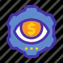 eye, marketing, money, profit, seeker, seo, website icon