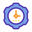 clock, gear, marketing, seo, time, timer, website icon