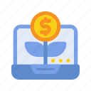 digital, growth, investment, marketing, money, seo, website icon