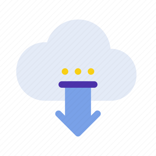 arrow, cloud, download, marketing, save, seo, website icon