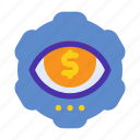 eye, marketing, money, profit, seeker, seo, website icon