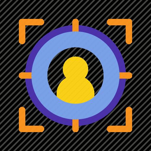 audience, capture, marketing, people, seo, target, website icon