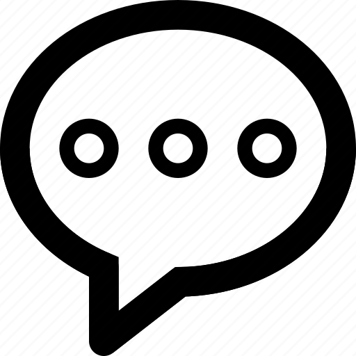 bubble, chat, circle, message, sms, speech, talk icon