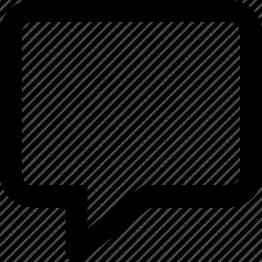 bubble, chat, comment, speech, square, talk icon
