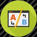 ab, seo, seo icons, seo pack, seo services, seo tools, testing icon