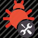bug, fixing, seo, seo icons, seo pack, seo services, seo tools icon