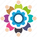collaboration, media, seo, seo icons, seo pack, seo services, social icon