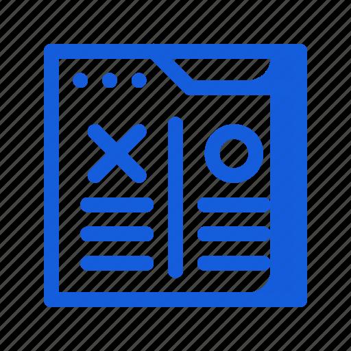 compare, feedback, marketing, seo, testing, ui ux, website icon