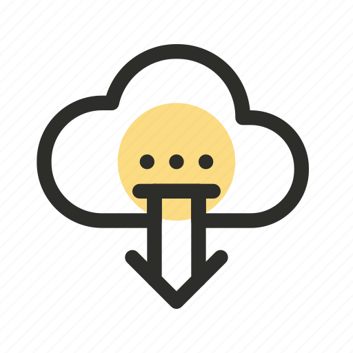 arrow, cloud, download, marketing, save, seo, website icon