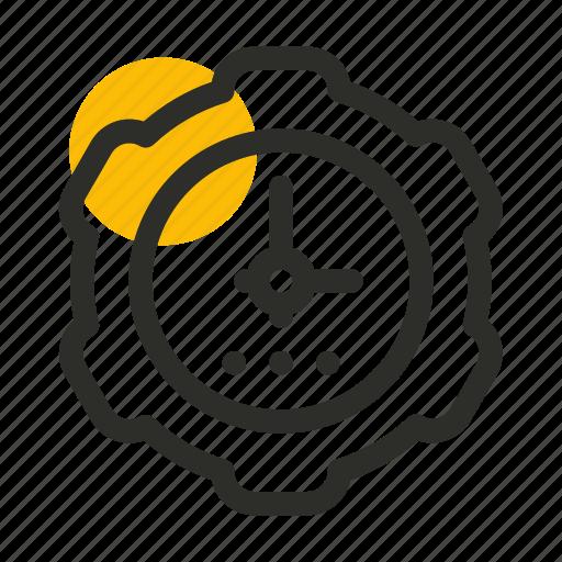 clock, gear, marketing, seo, time, timer, website icon